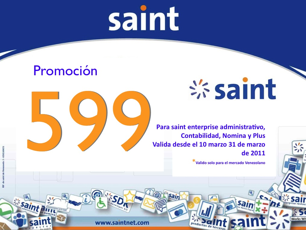 saint enterprise en 599 Bs. solo para Venezuela