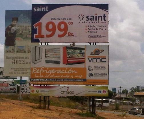 Iniciamos campaña publicitaria de Vallas en Guayana (Venezuela)