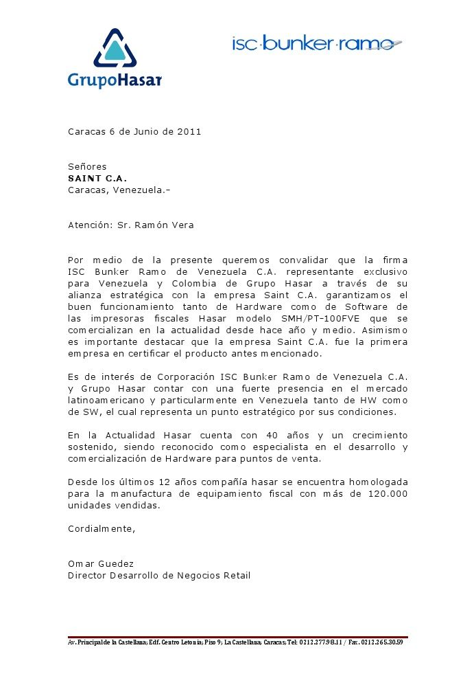 Grupo Hasar reconoce a saint como la primera empresa en certificar sus impresoras fiscales