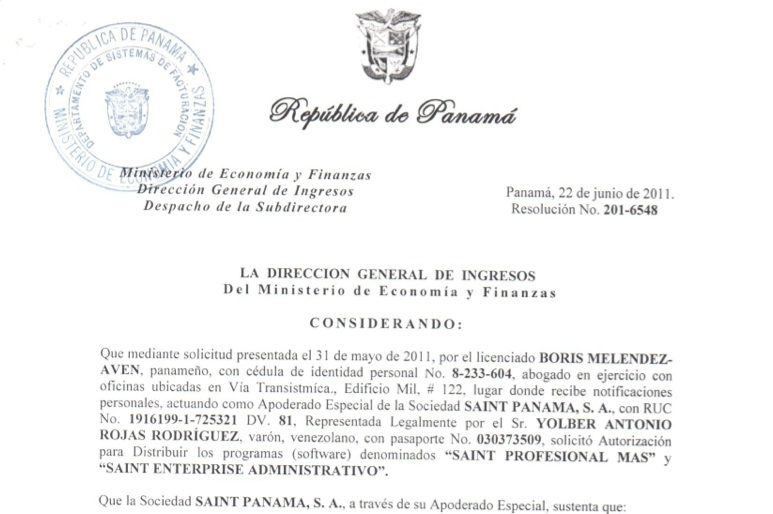 DGI autoriza la distribución y venta de saint en Panamá
