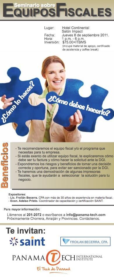 """saint invita al """"Seminario sobre Equipos Fiscales"""" en Panamá"""