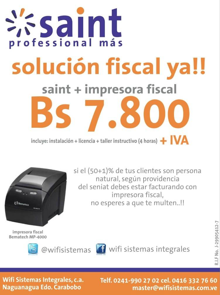 saint felicita al canal integrador Wifi Sistemas Integrales (Venezuela)