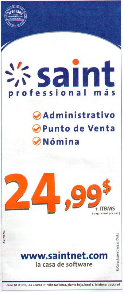 Tenemos mejor precio en Panamá saint professional a 24,99 $
