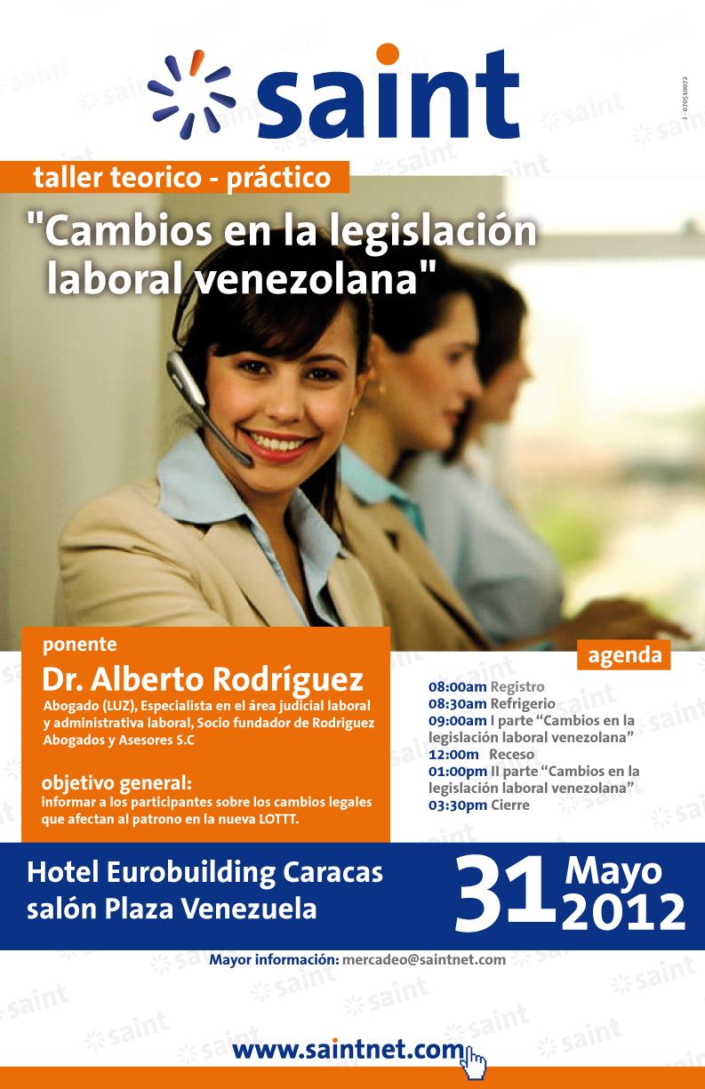 saint dicta taller teórico practico sobre los cambios en la legislación laboral venezolana