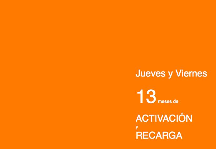 """Especial jueves y viernes 13 de """"ACTIVACIONES y RECARGA"""""""