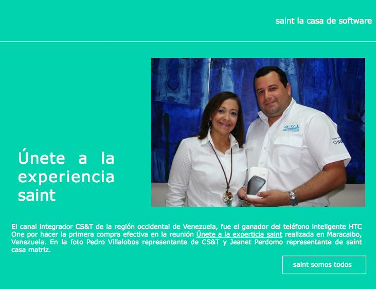 El canal integrador CS&T de Venezuela, fue el ganador del teléfono inteligente HTC One