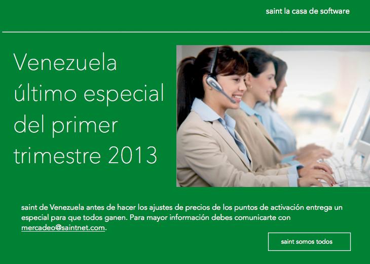 Venezuela: último especial del primer trimestre 2013