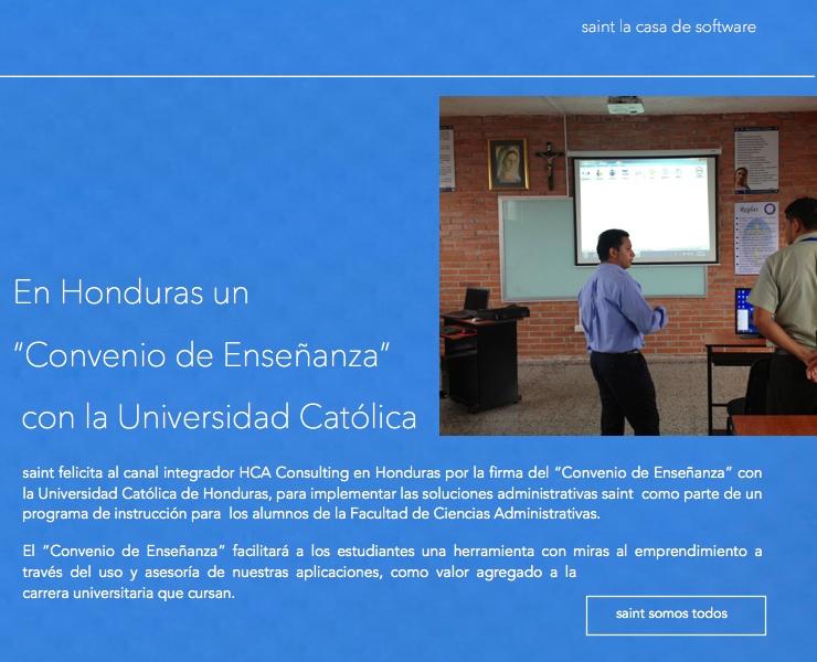 "En Honduras un ""Convenio de Enseñanza""  con laUniversidad Católica"