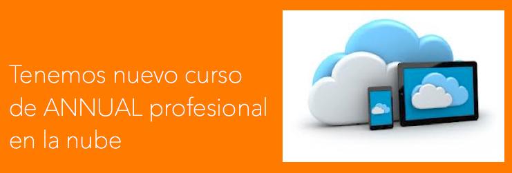Tenemos nuevo curso de ANNUAL professional en la nube