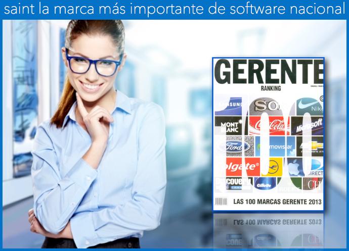 La revista gerente reconoce a saint como la marca más importante de software nacional