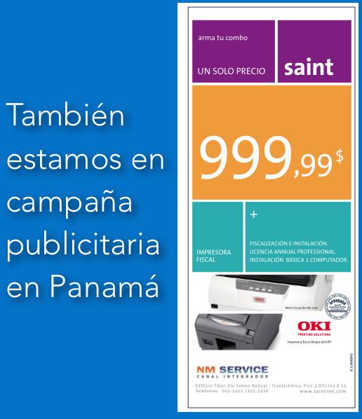 También estamos en campaña publicitaria en Panamá