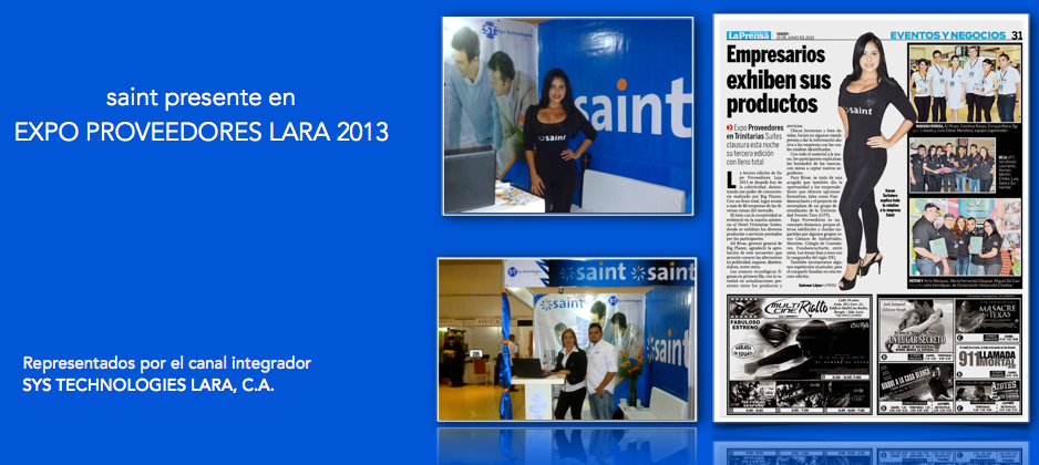saint presente en EXPO PROVEEDORES LARA 2013