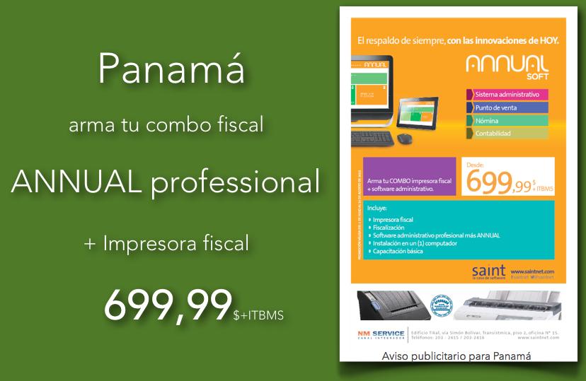 Panamá ANNUAL professional con impresora fiscal al mejor precio del mercado.