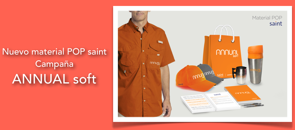 Nuevo material POP saint. Campaña  ANNUAL soft.