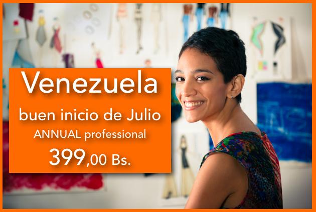 Venezuela buen inicio de Julio ANNUAL professional a 399,00 Bs