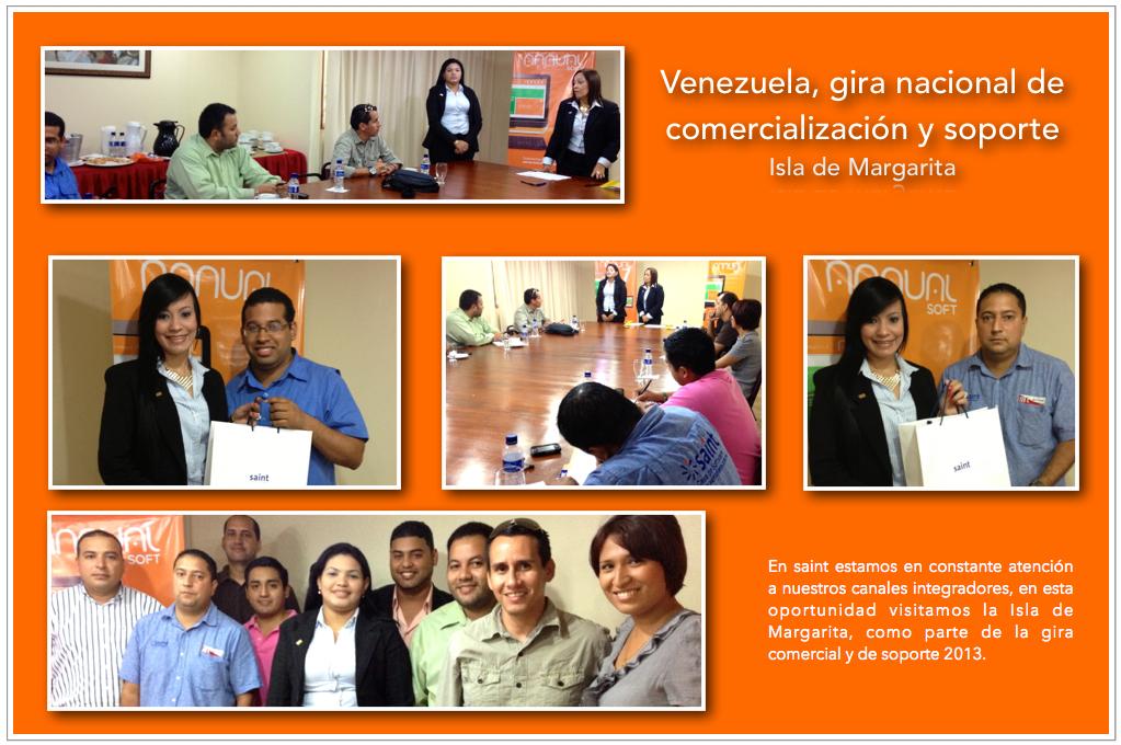 Venezuela, gira nacional de comercialización y soporte (Isla de Margarita).