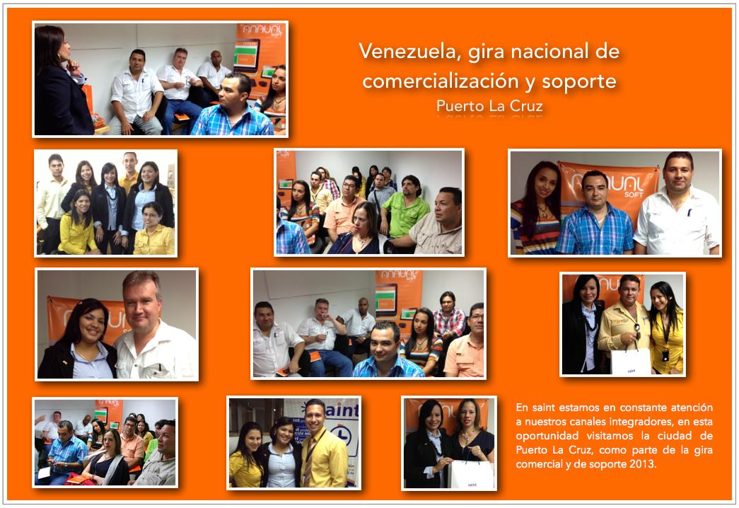 Venezuela, gira nacional de comercialización y soporte (Puerto La Cruz).