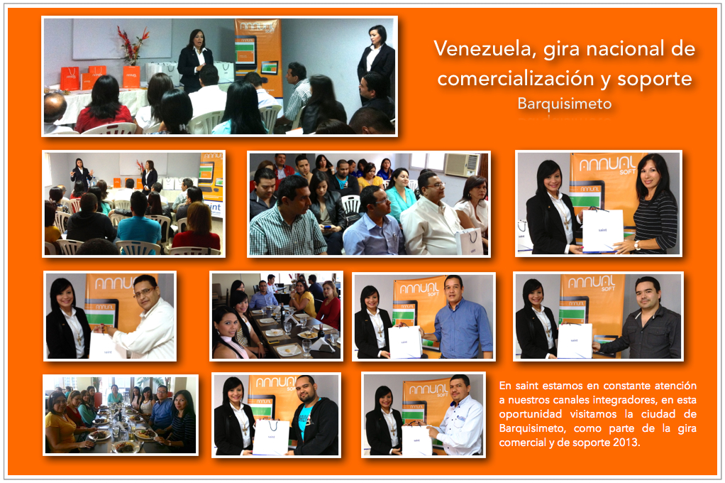 Venezuela, gira nacional de comercialización y soporte (Barquisimeto).