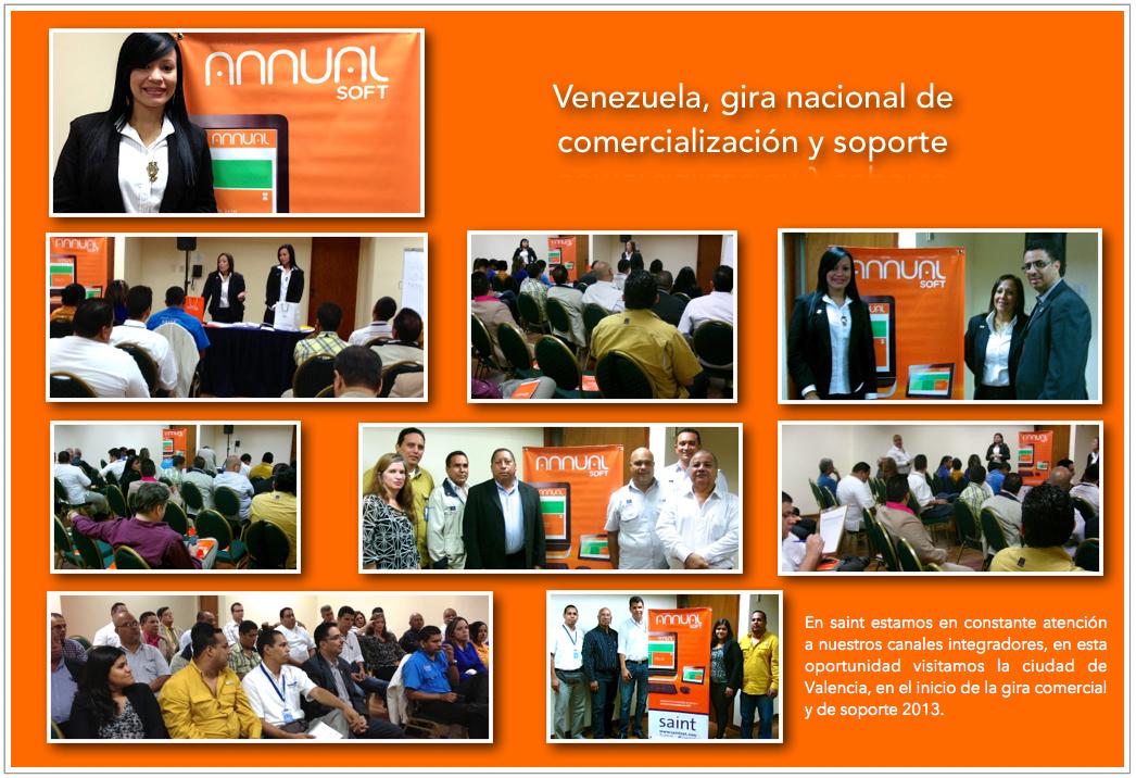 Venezuela, gira nacional de comercialización y soporte.