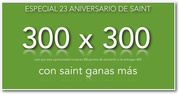 Especial 23 aniversario de saint, 300 x 300.