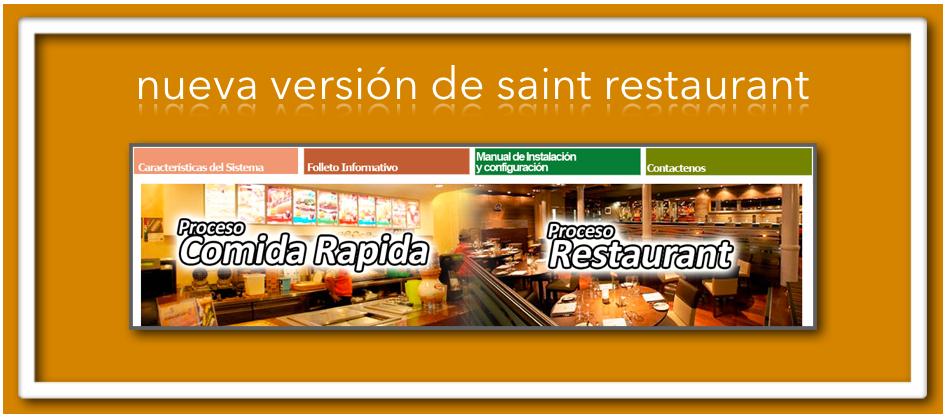 nueva versión de saint restaurant