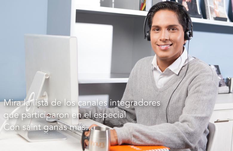 """Lista de los canales integradores que participaron en el especial  """"Con saint ganas más…"""""""