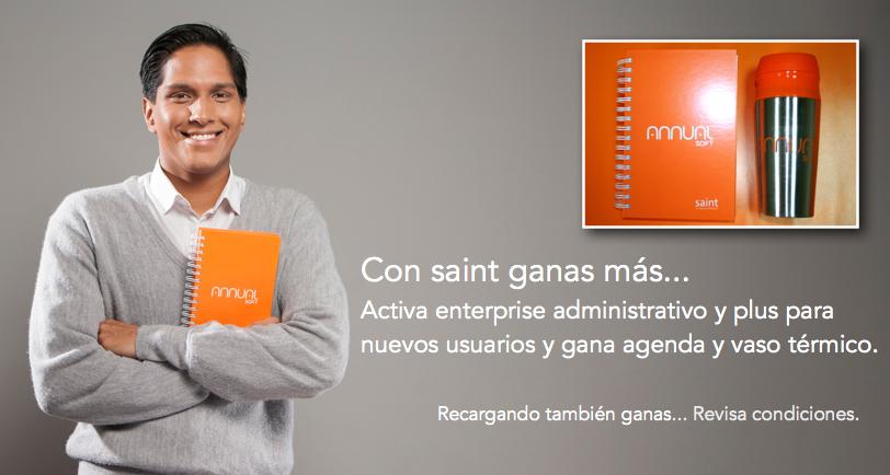 Con saint ganas más… Activa enterprise administrativo y plus.