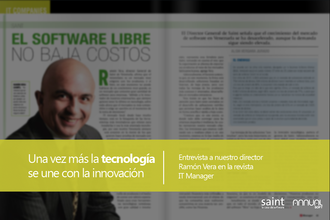 Entrevista a nuestro director Ramón Vera en la revista IT Manager.