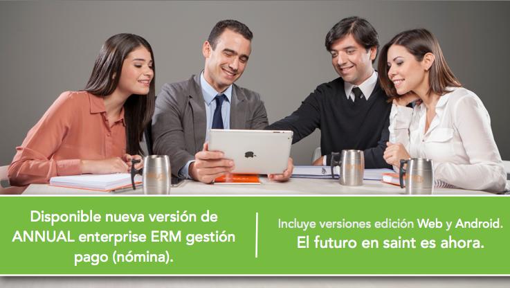 Disponible nueva versión de ANNUAL enterprise ERM gestión pago (nómina).