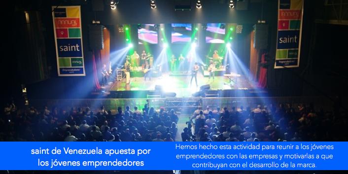 saint de Venezuela apuesta por los jóvenes emprendedores.