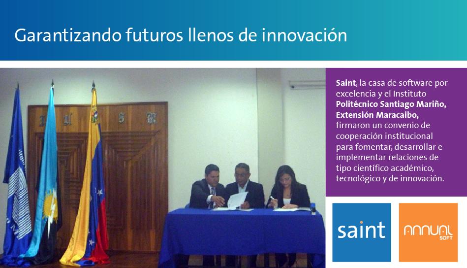 En saint estamos trabajando para garantizar las innovaciones.