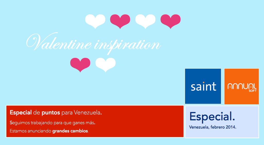 Especial de puntos para Venezuela, inspirado en el día de San Valentín.