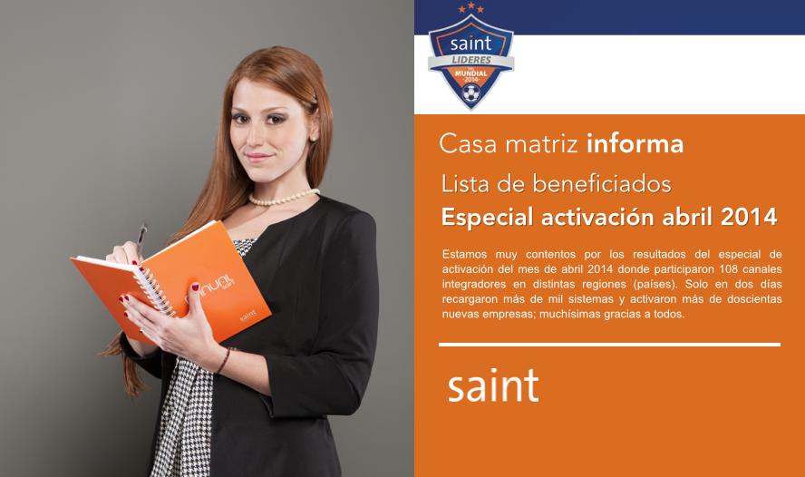 Tenemos lista de beneficiados con el especial de activaciones abril 2014.