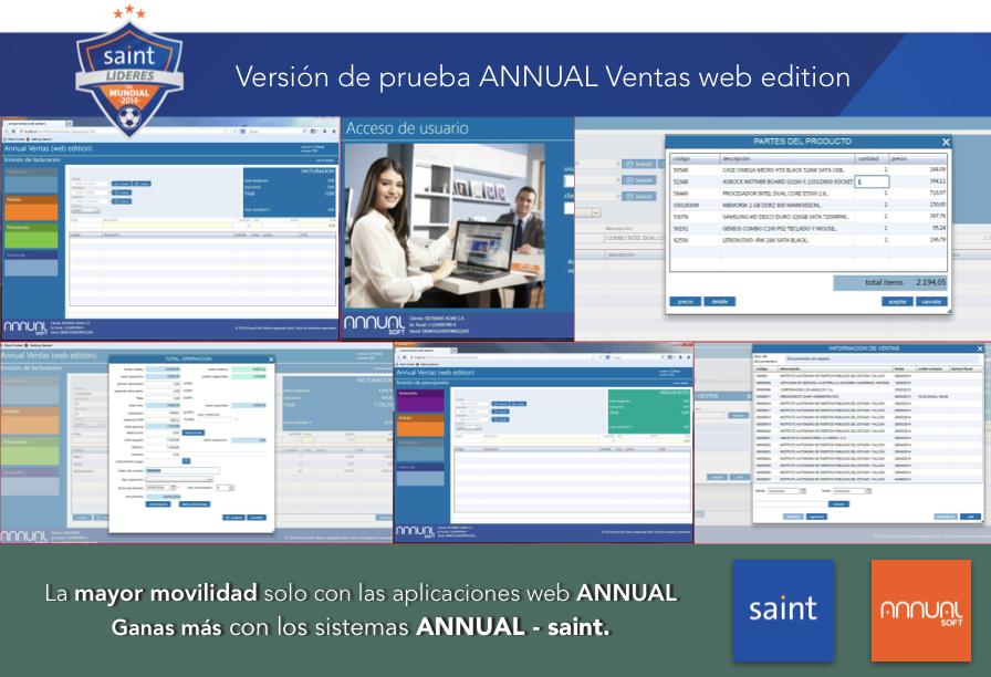 Versión de prueba ANNUAL Ventas web edition