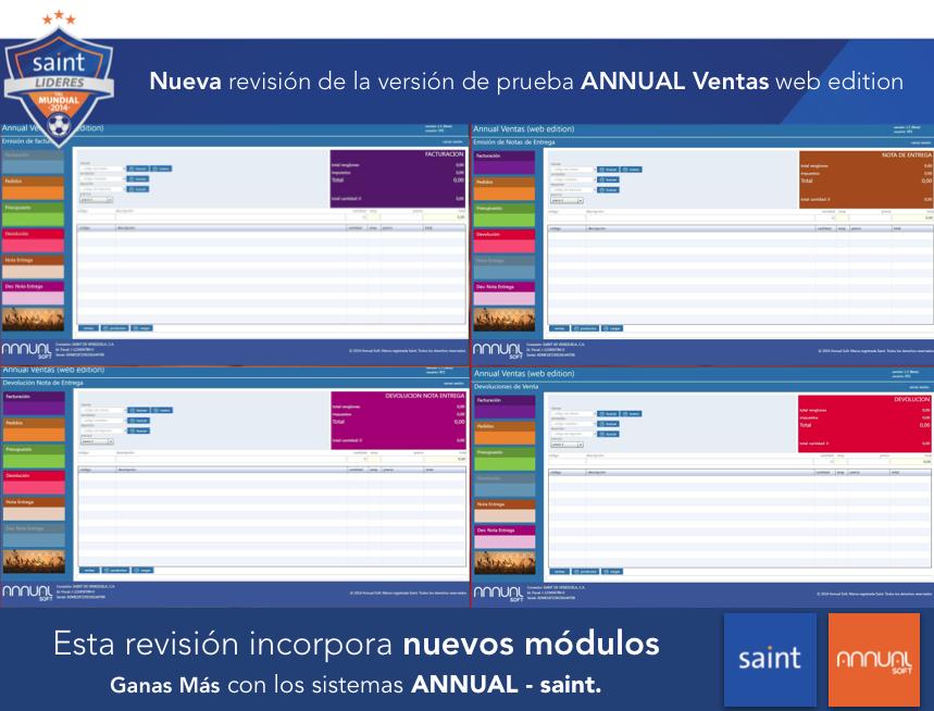 Nueva revisión de la versión de prueba ANNUAL Ventas web edition