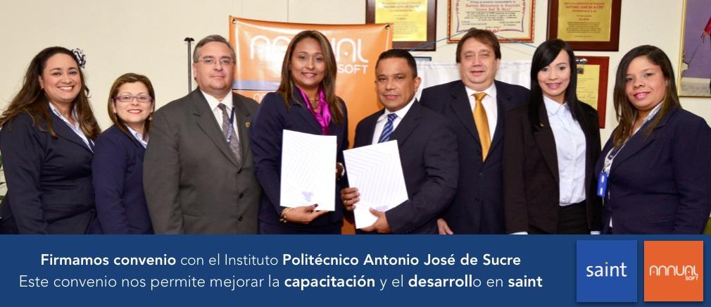 Firmamos convenio con el Instituto Politécnico Antonio José de Sucre