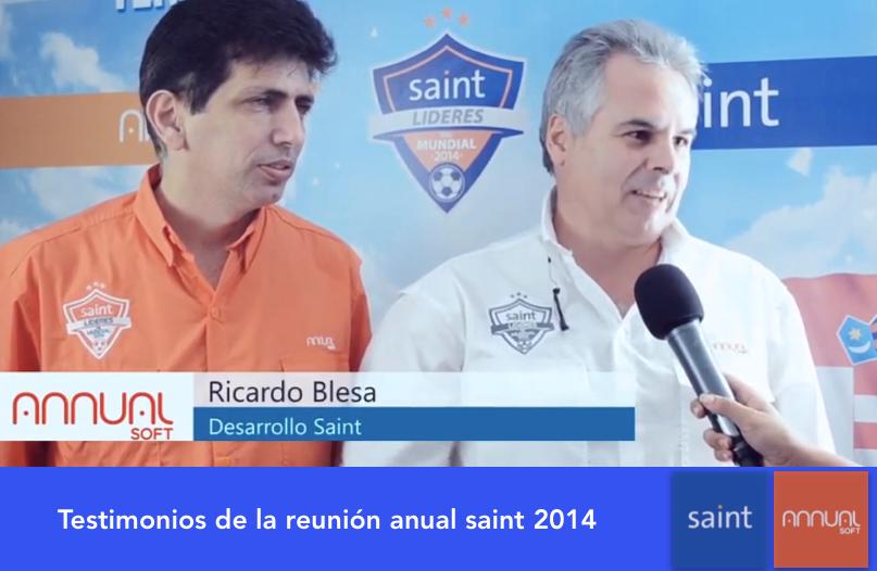 Testimonios de la reunión anual saint 2014