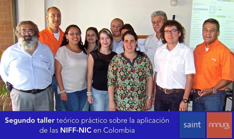 Dictamos el segundo taller teórico práctico sobre la aplicación de las NIFF-NIC en Colombia