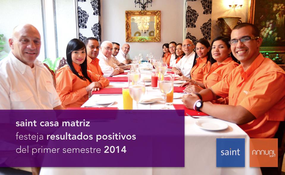 saint casa matriz festeja resultados positivos del primer semestre 2014