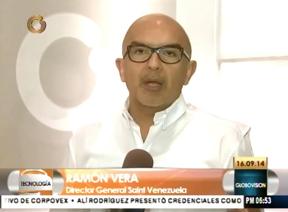 Entrevista sobre el lanzamiento de saintpago.com en Globovisión