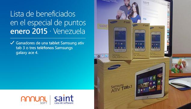 Venezuela: tenemos la lista de beneficiados del primer especial de puntos 2015.
