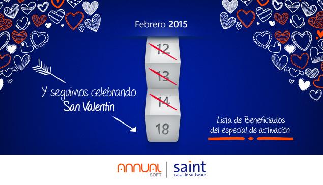 Lista de los 32 canales integradores beneficiados con el especial de San Valentín