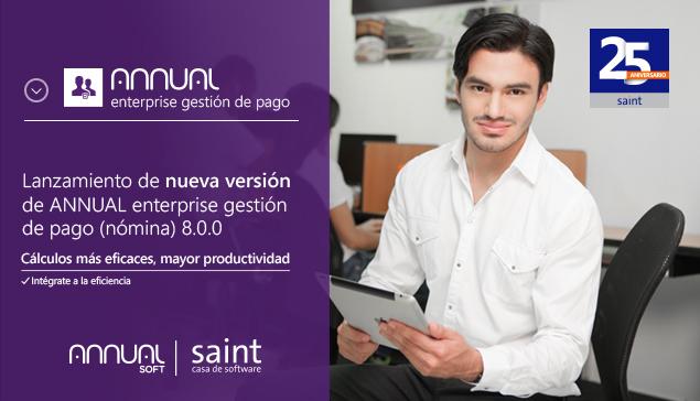 Disponible nueva versión de ANNUAL nómina (gestión de pago) 8.0.0.