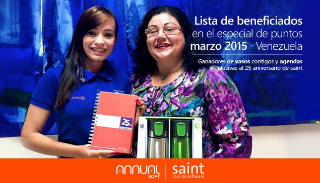 Venezuela: tenemos la lista de beneficiados del especial de puntos Marzo 2015.
