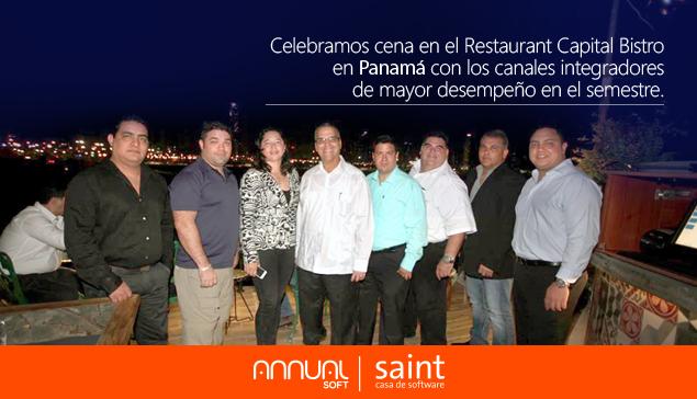 Celebramos cena en el Restaurant CBP con canales integradores de mayor desempeño del semestre