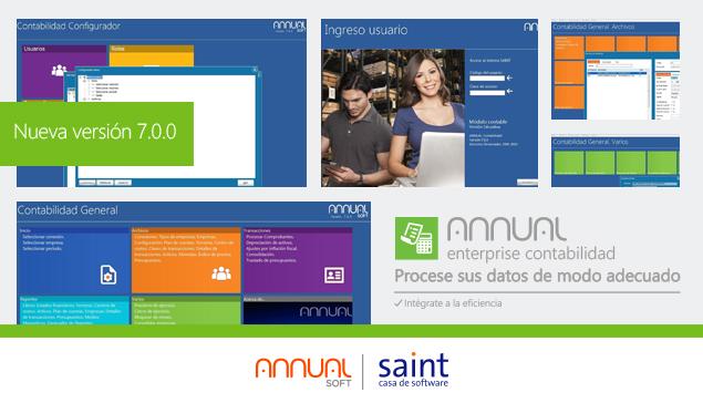 Disponible nueva versión de ANNUAL enterprise contabilidad 7.0.0.