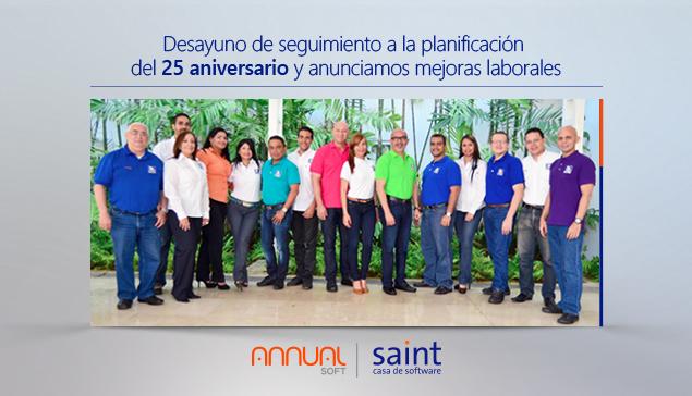 Continuamos en la planificación de los 25 aniversarios Saint y anunciamos mejoras laborales