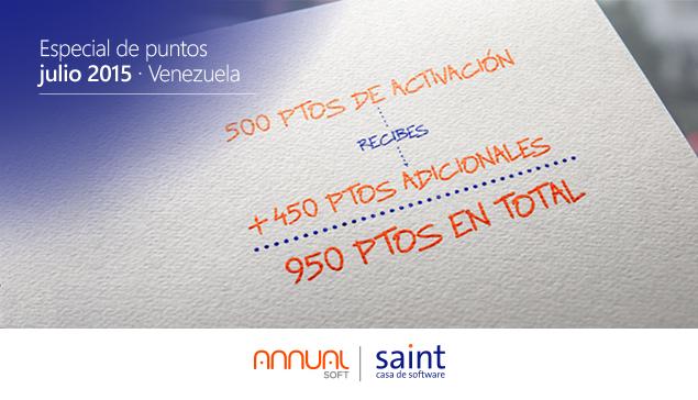 Venezuela: especial de puntos julio 2015,  para que ganes más…!