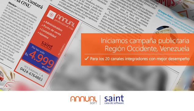 Iniciamos campaña publicitaria en la región Occidente de Venezuela.