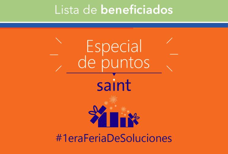 """Venezuela: lista de beneficiados especial de puntos """"#FeriaDeSolucionesSaint"""""""